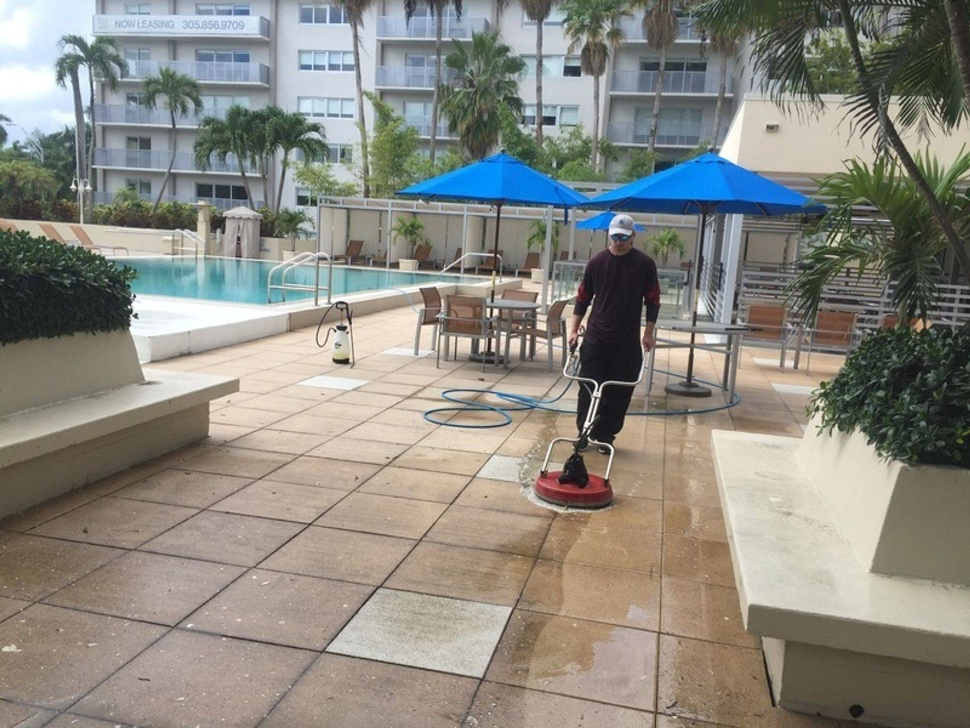 AR&D Inc. Pool area Pressure Cleaning.
