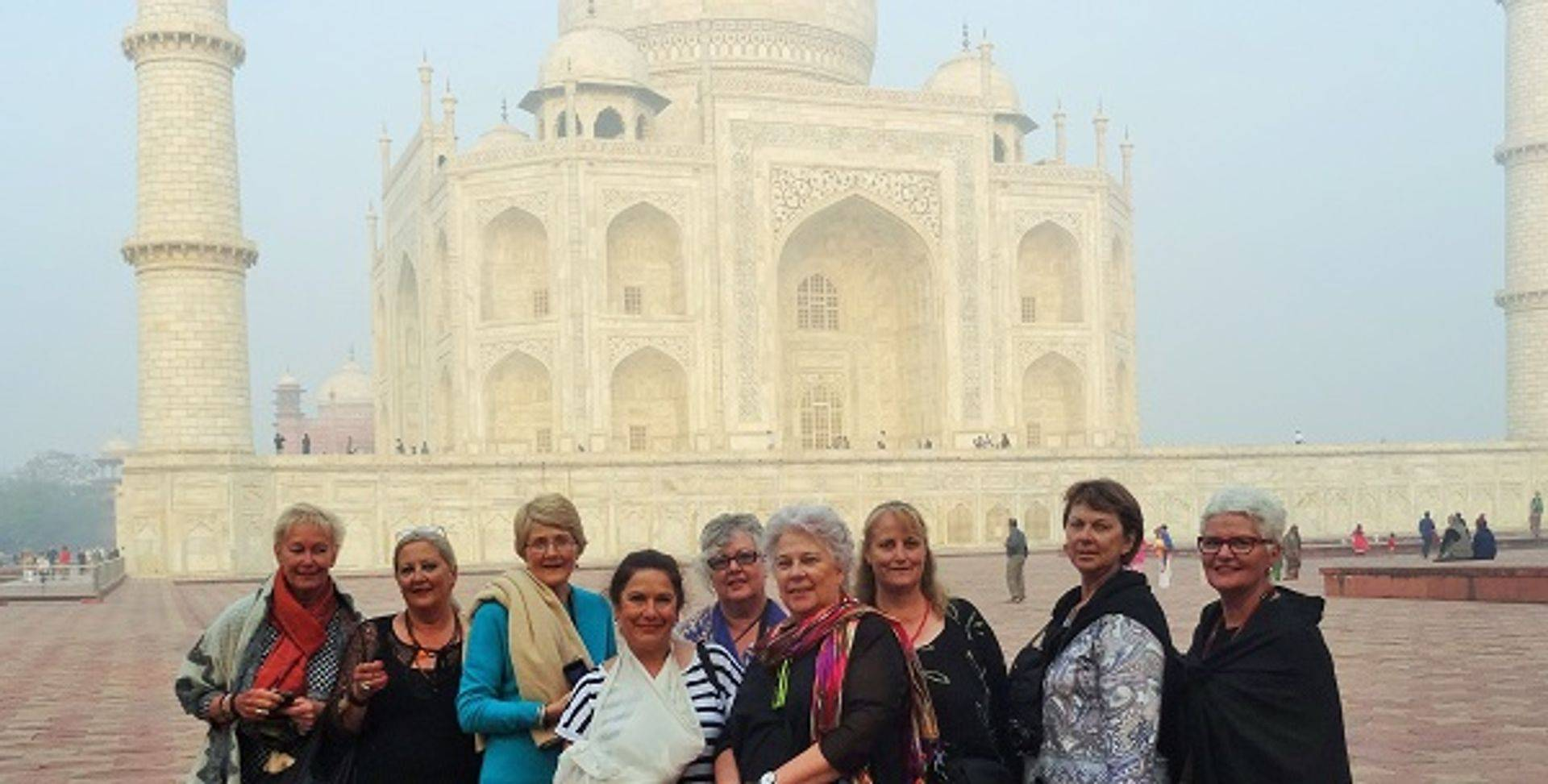 "<img src=""australian womens travel.jpg alt=womens tours, tour group in he morning in front of the taj mahal, india"">"