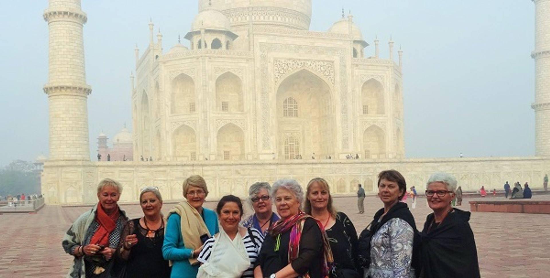 "<img src=""australian womens travel.jpg alt=womens tours, tour group in he morning in front of the taj mahal, india"">"