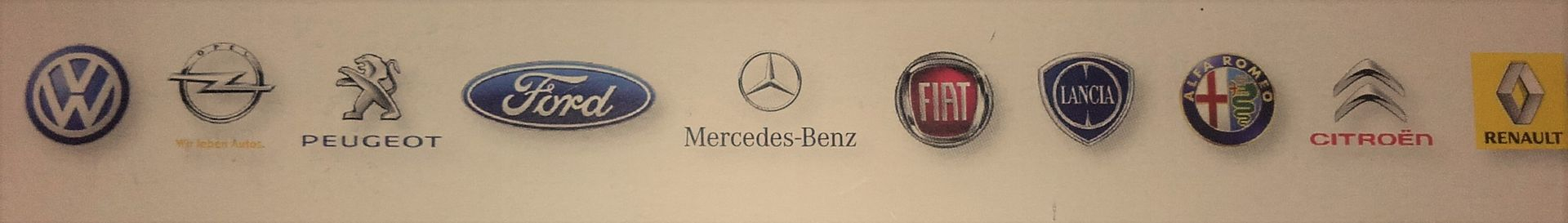 alle Marken VW, Audi, Mercedes, Opel, Fiat, Ford, Seat, Chevrolet, Mazda, Hyundai, Toyota, Nissan,...