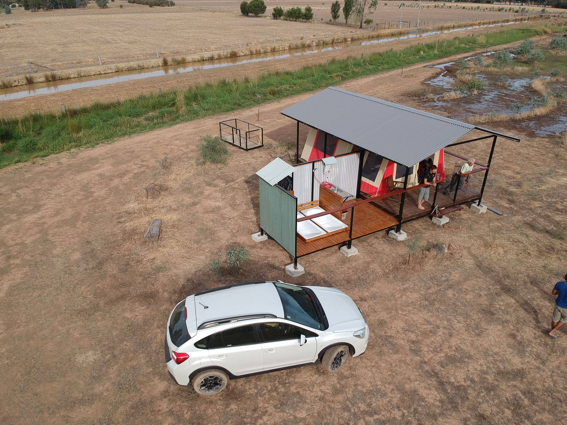 The Safari Retreat at Belstack Strawberry Farm is luxury camping