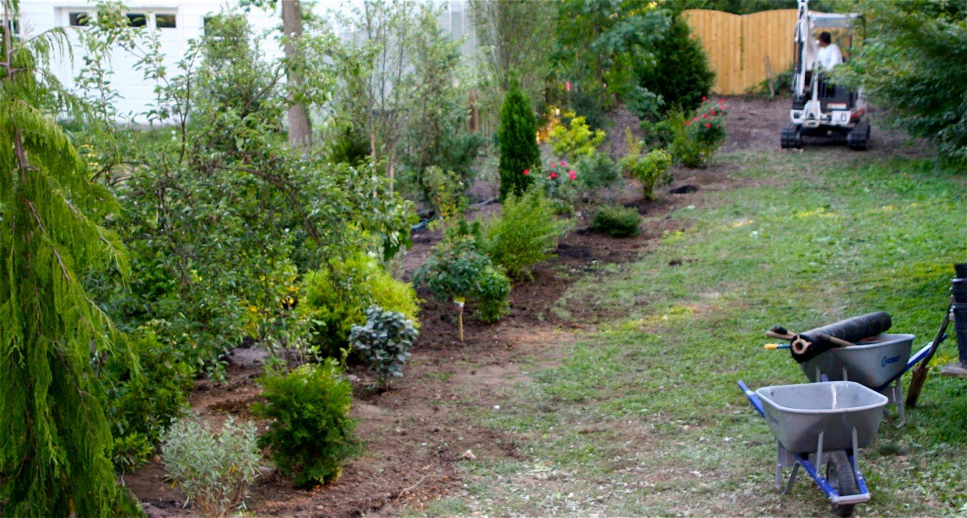 landscape installation for residential property