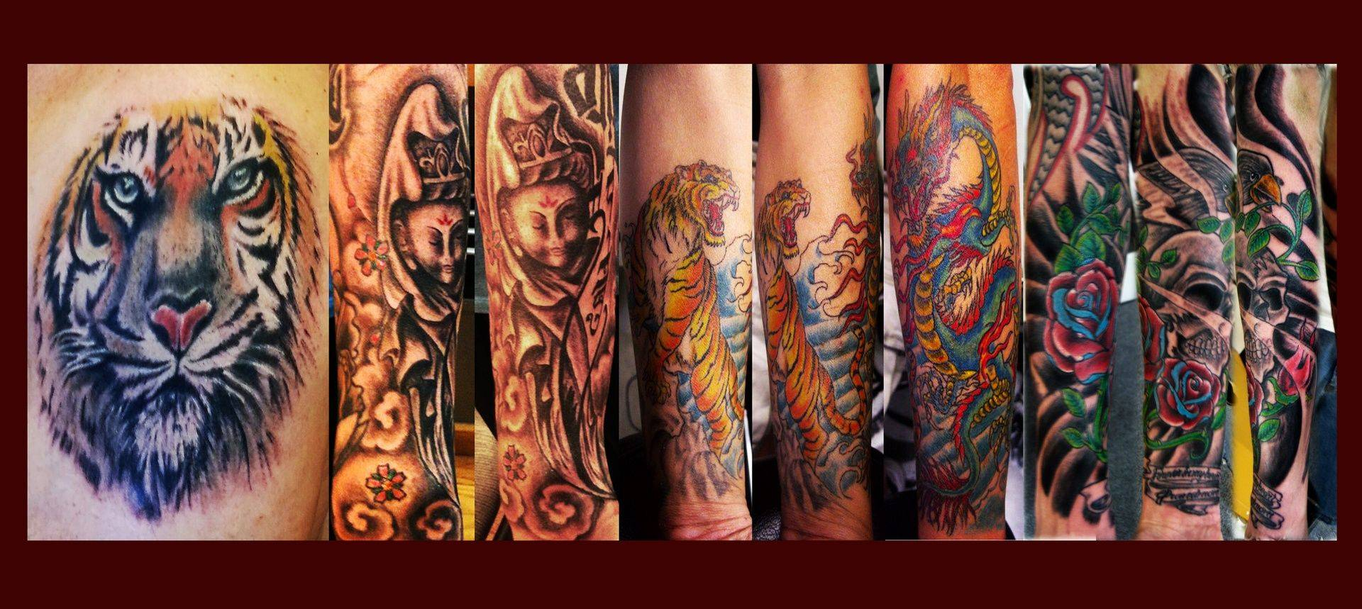 collage tattoo by Ruben