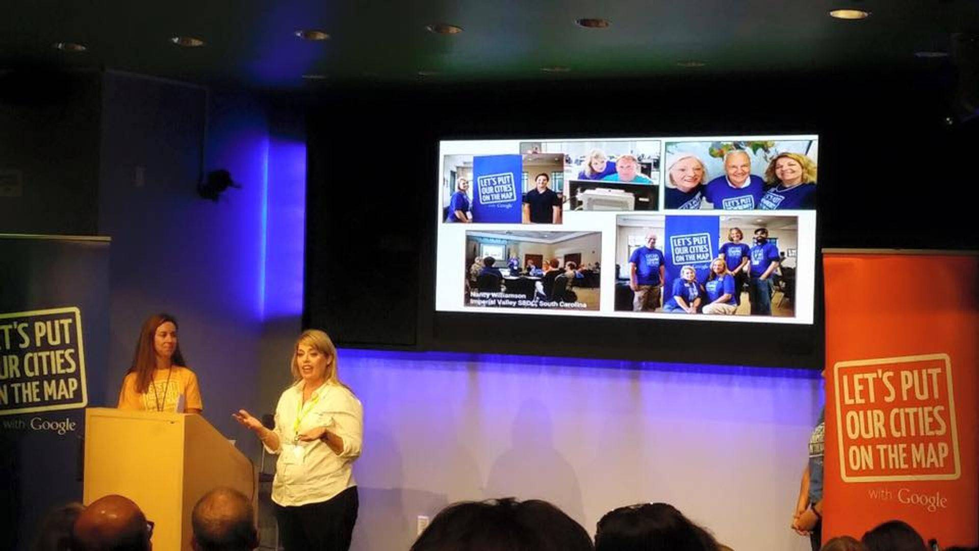 Nancy presenting at Google about Google Maps Listings