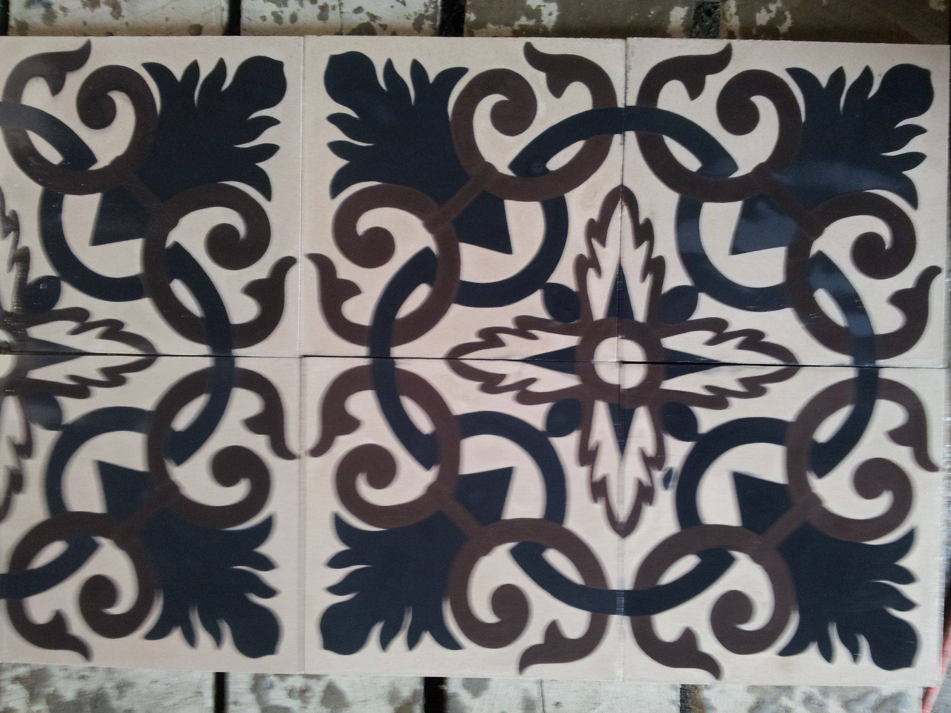 floral cement tile design