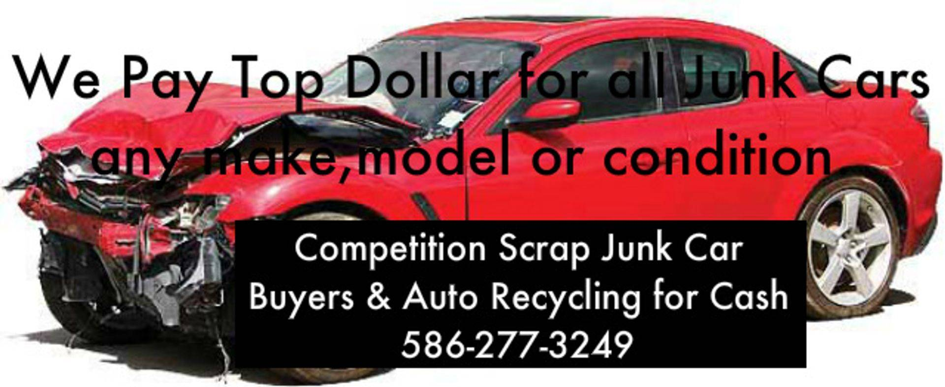 scrap car, junk car, broken vehicles