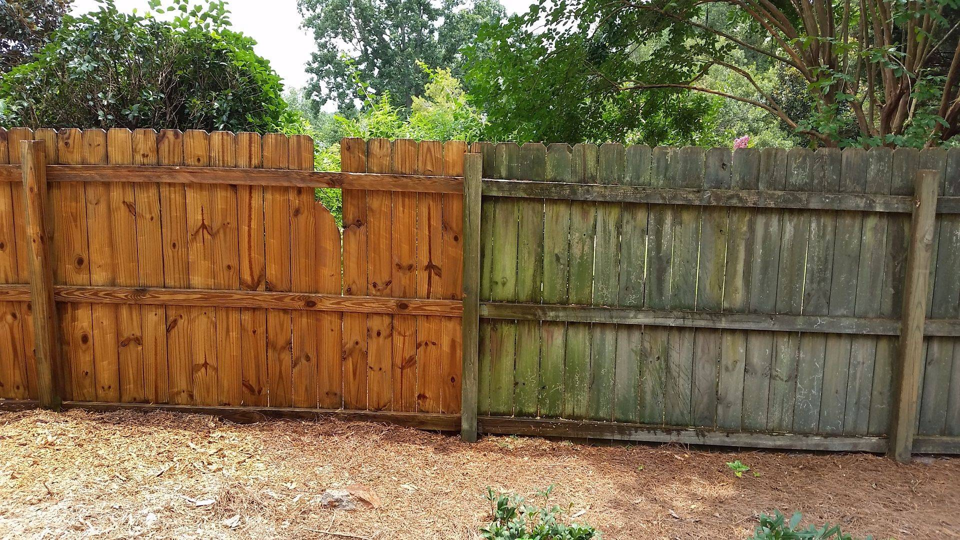 Pressure Washing Fence Restoration
