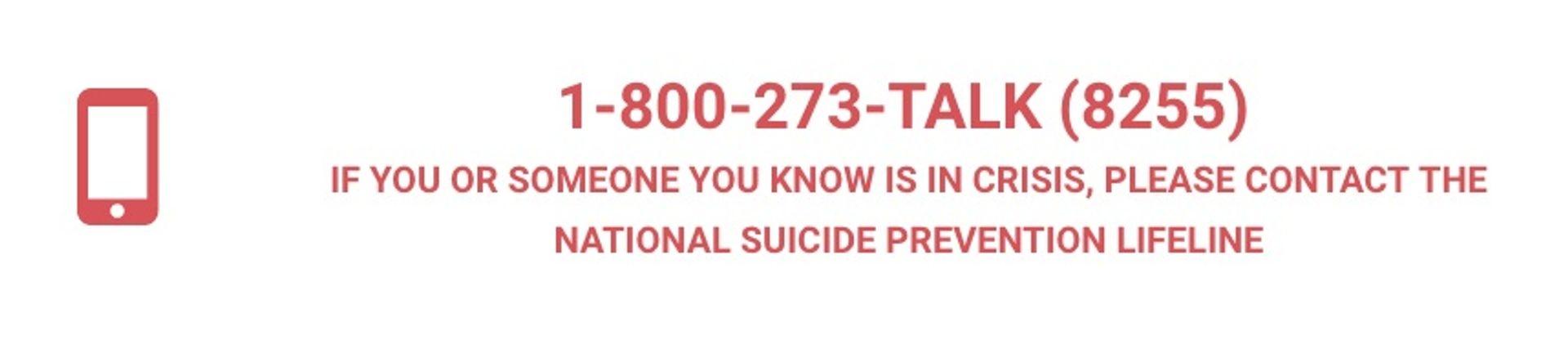 Need Help suicide hotline