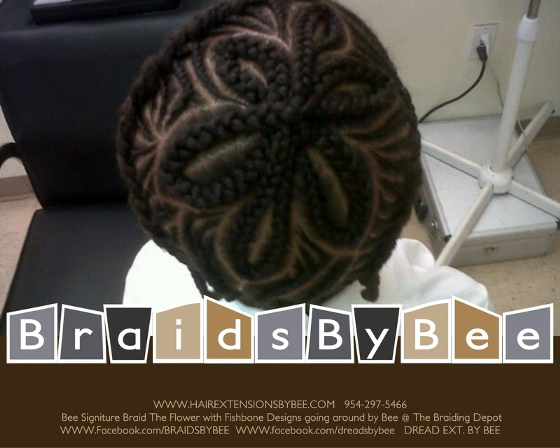 Design corn row braids customized and braided by Bee aka Braids by Bee™