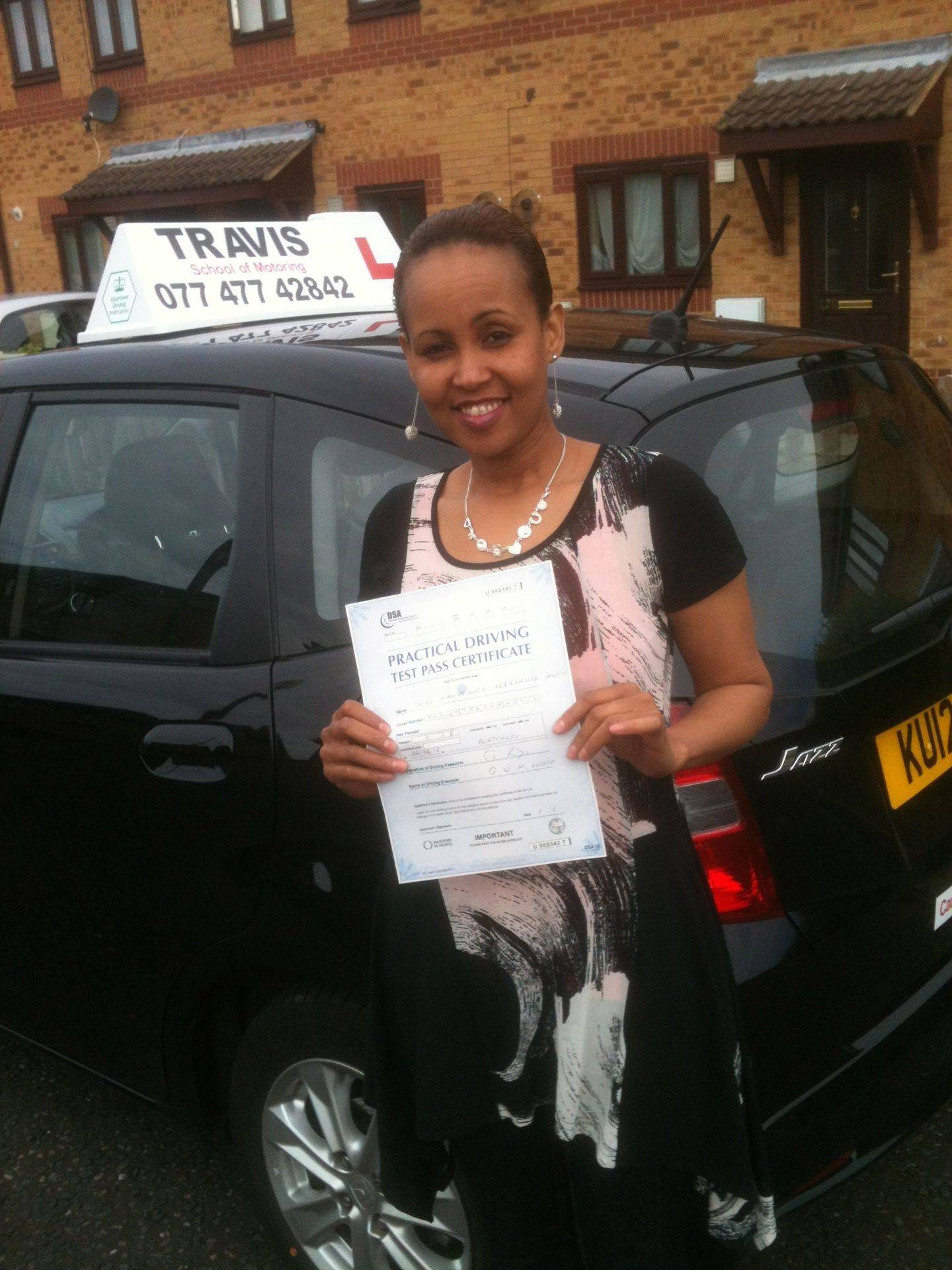 Passed after driving lessons in Milton Keynes