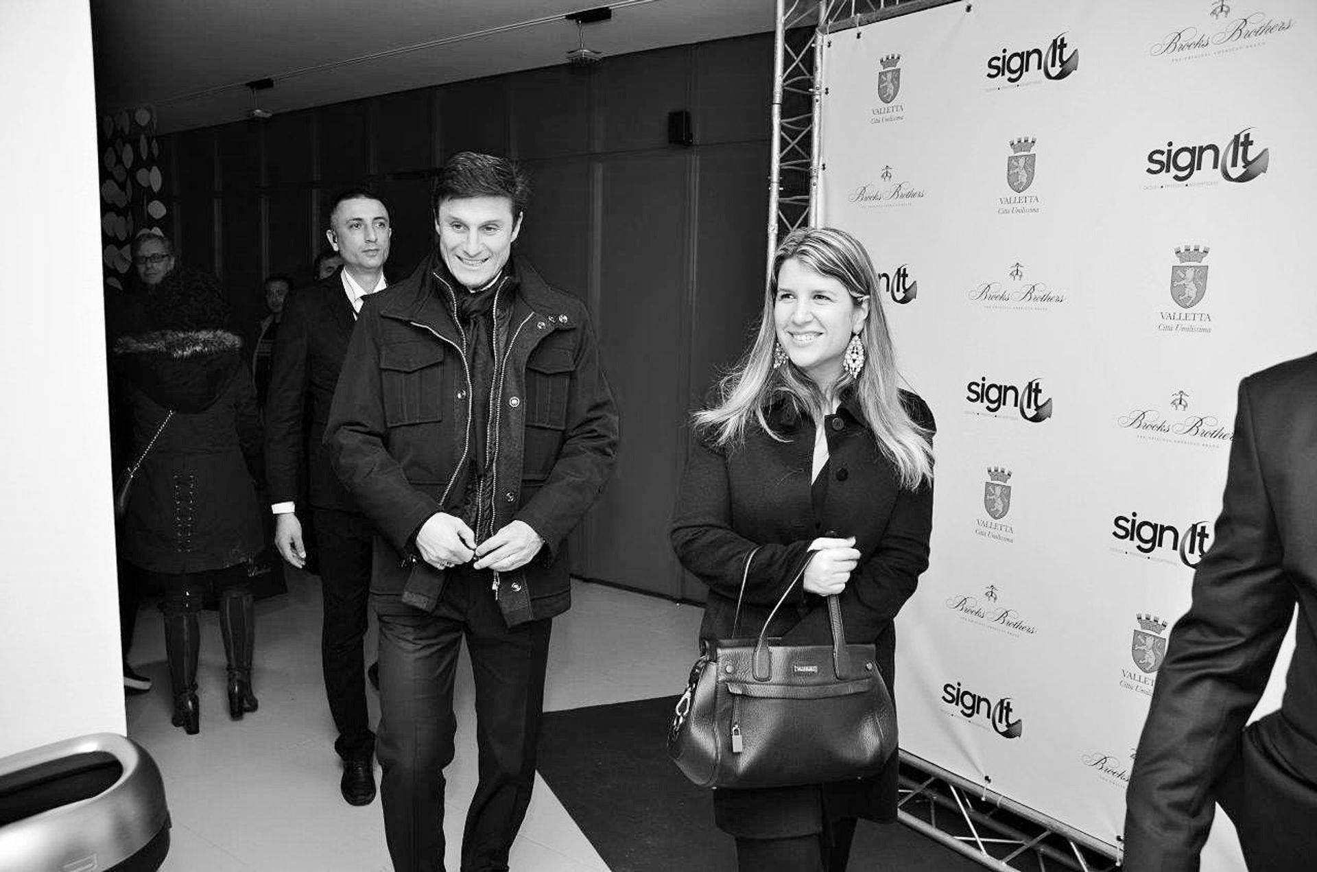 Close protection detail with Javier Zanetti and Mrs Zanetti