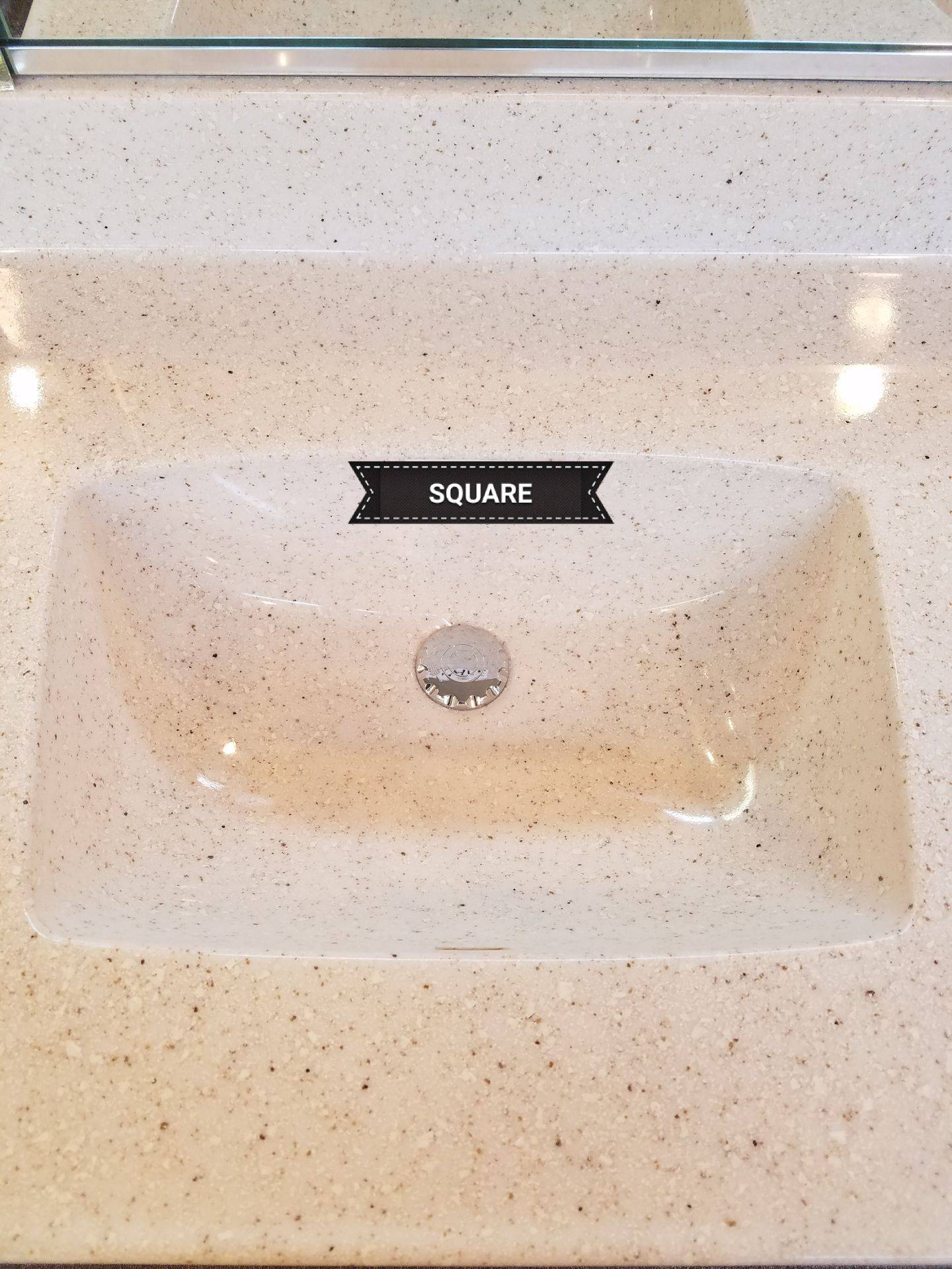 square sink in marble