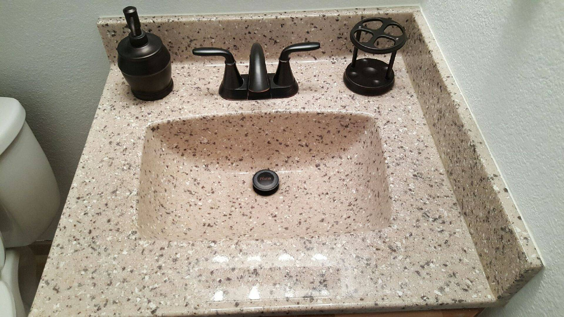 square granite style sink