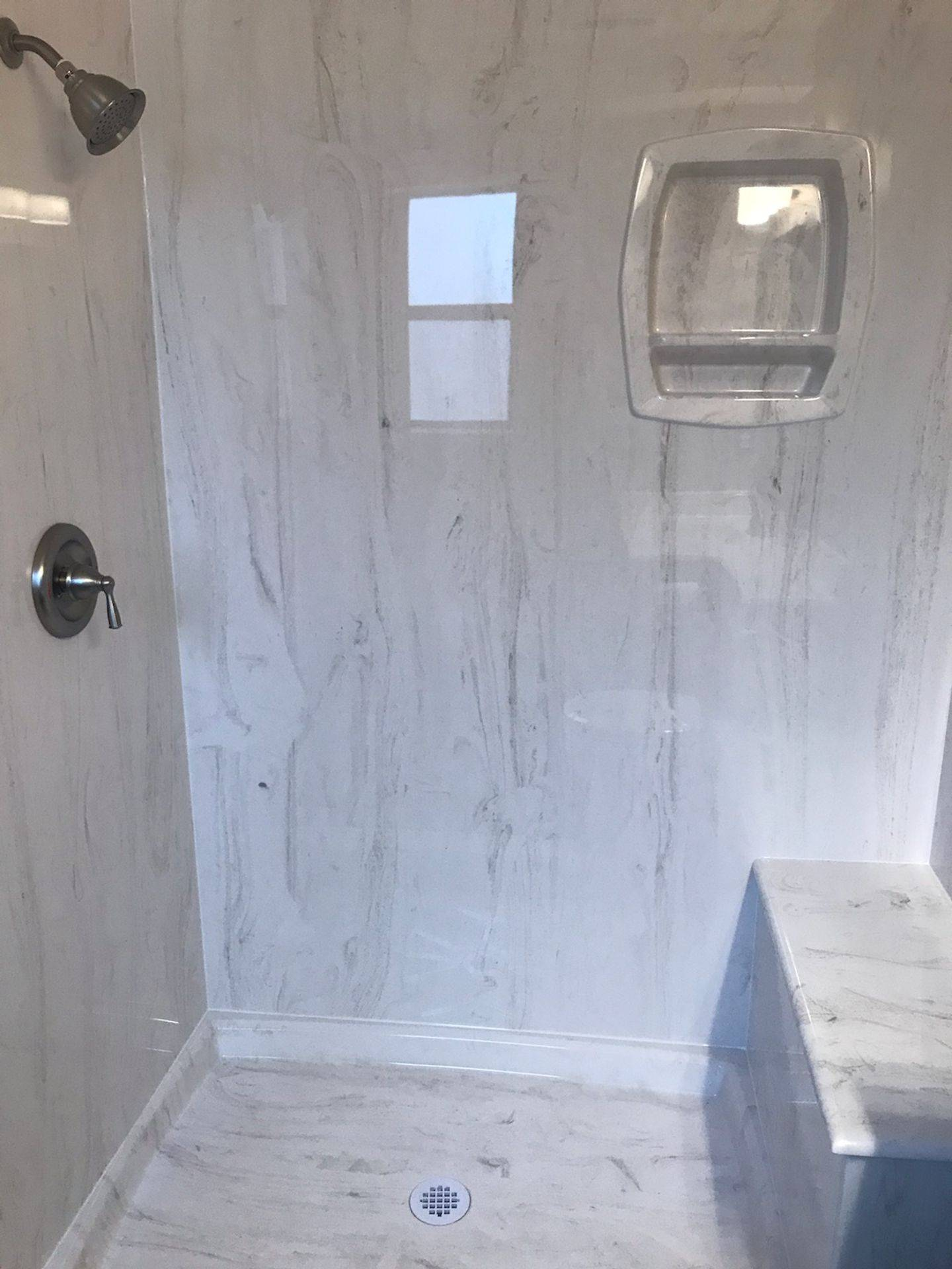 Marble Shower with Seat/Bench