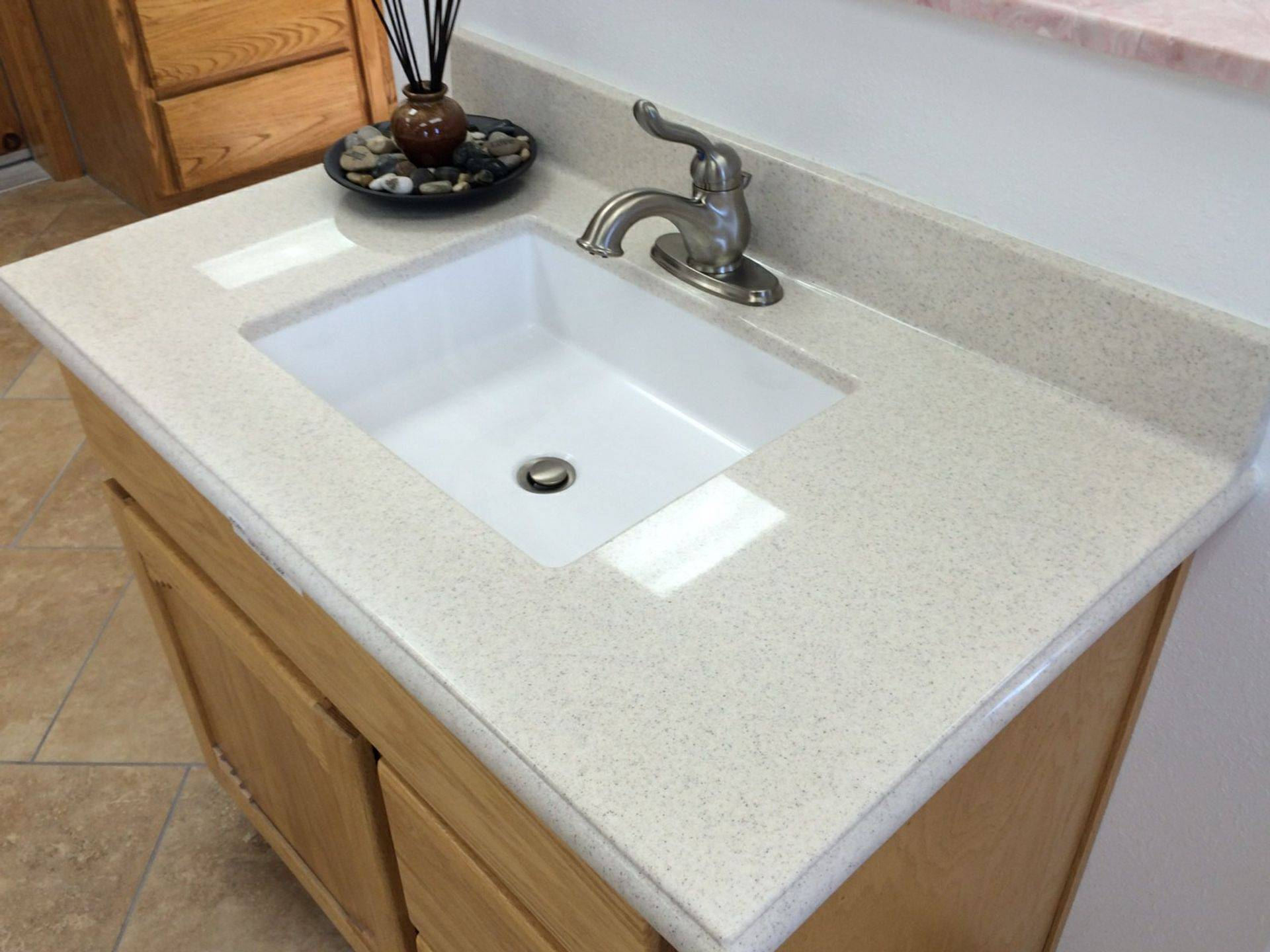Granite Center Drain Square Sink