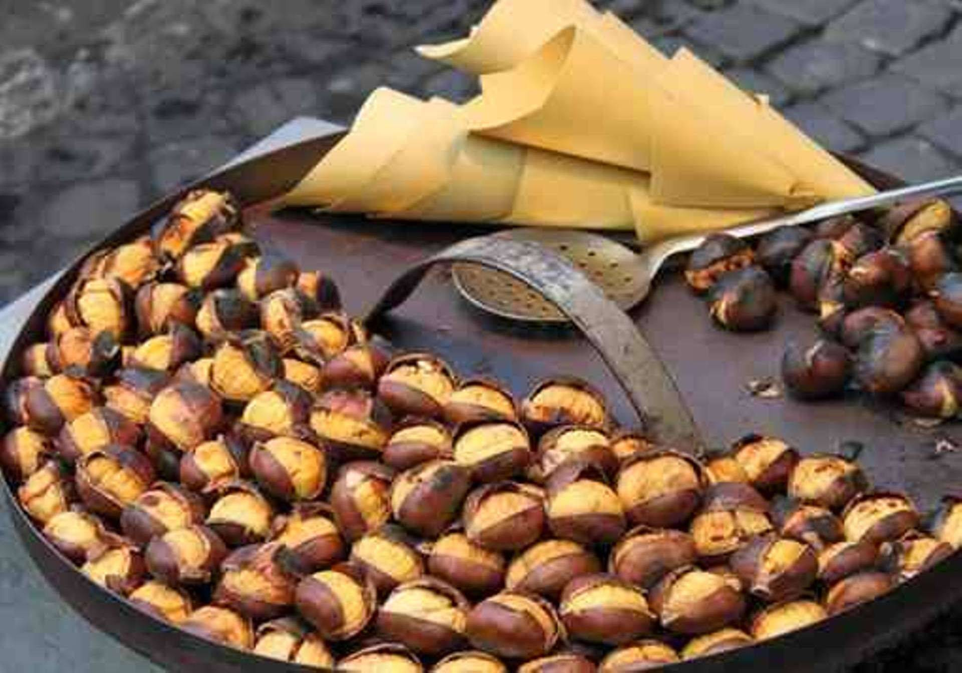 chesnuts, the Greek winter taste in every corner in the Street