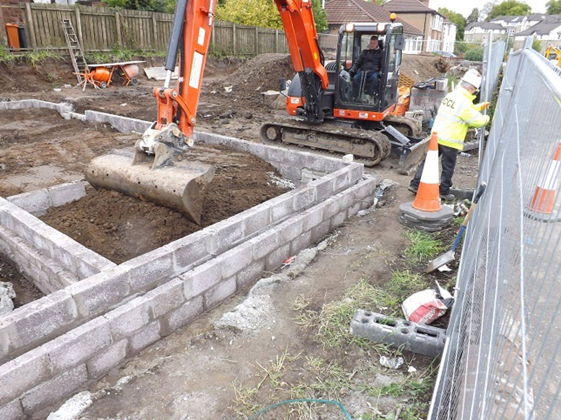 Ground excavation Dunbartonshire.
