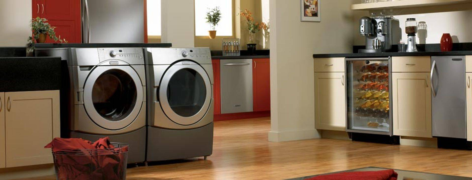 Washer and Dryer Laundry Room