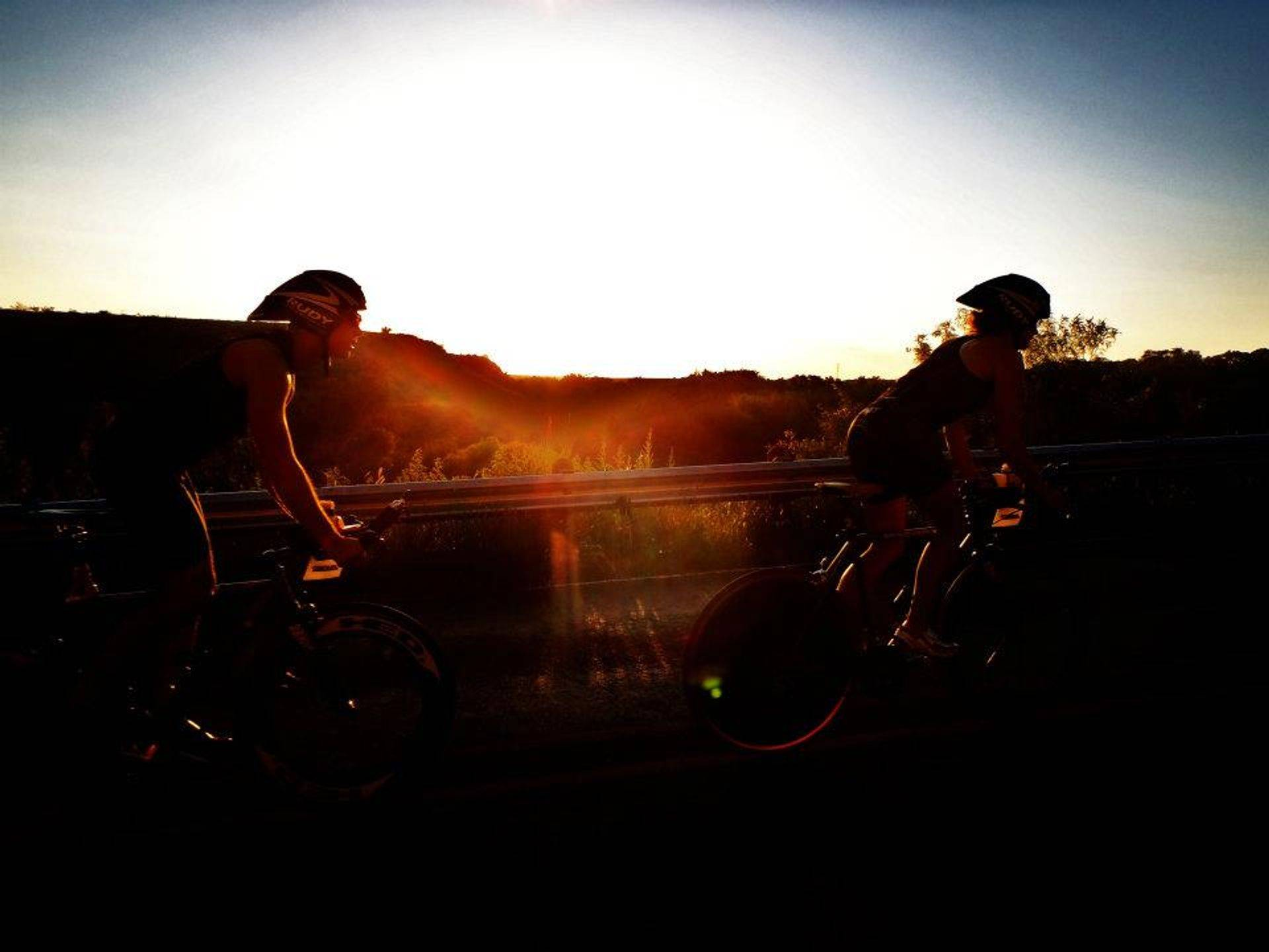 Buffalo Springs Biking at Sunset