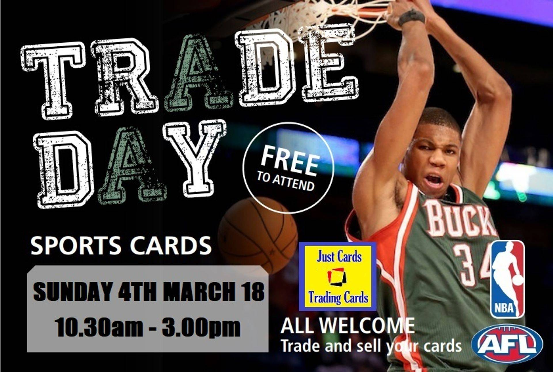 Trade Day WA Perth NBA cards AFL cards