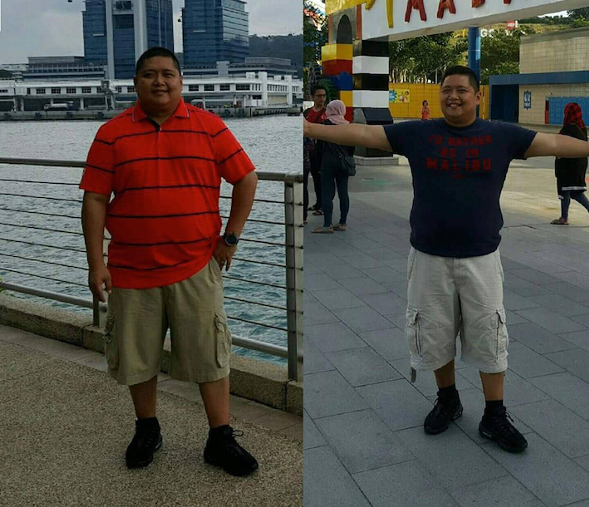 Image Man weight loss