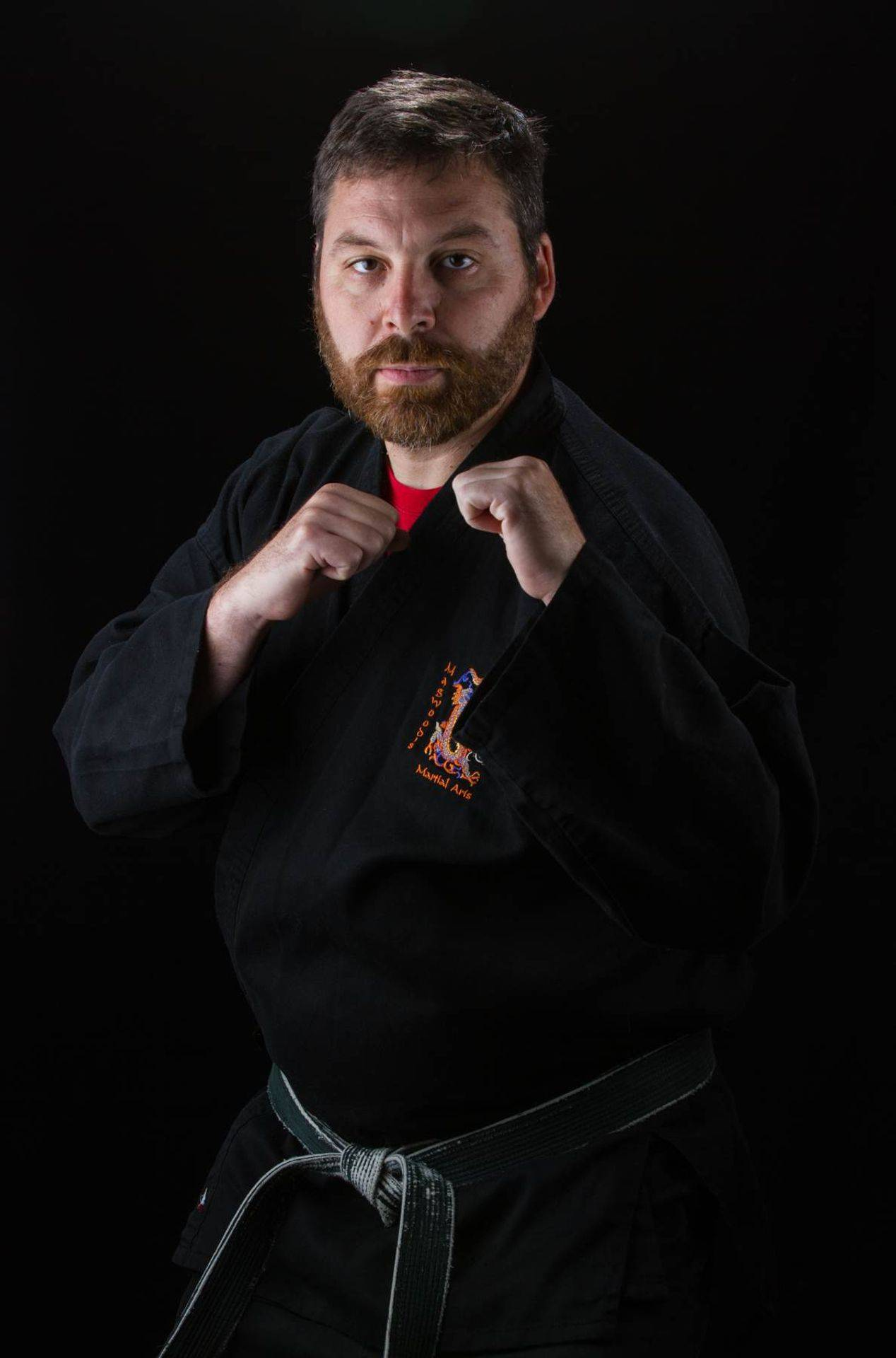 Sensei Magwood fighting stance