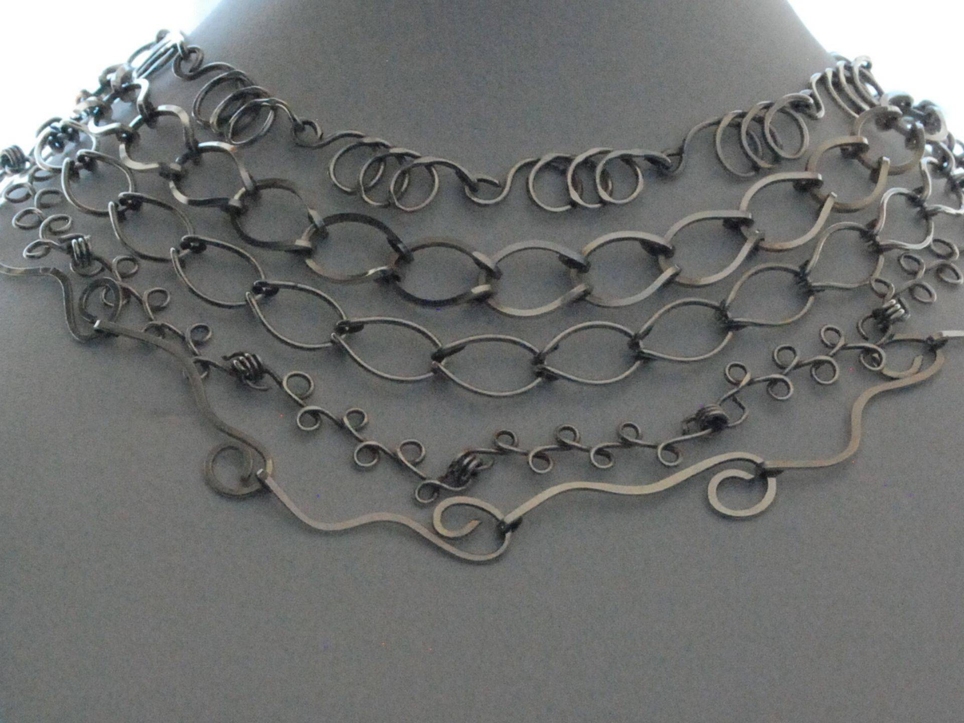 Wire Wrap Chains By Marcia Kertel Designs/ LeTrek Jewelry
