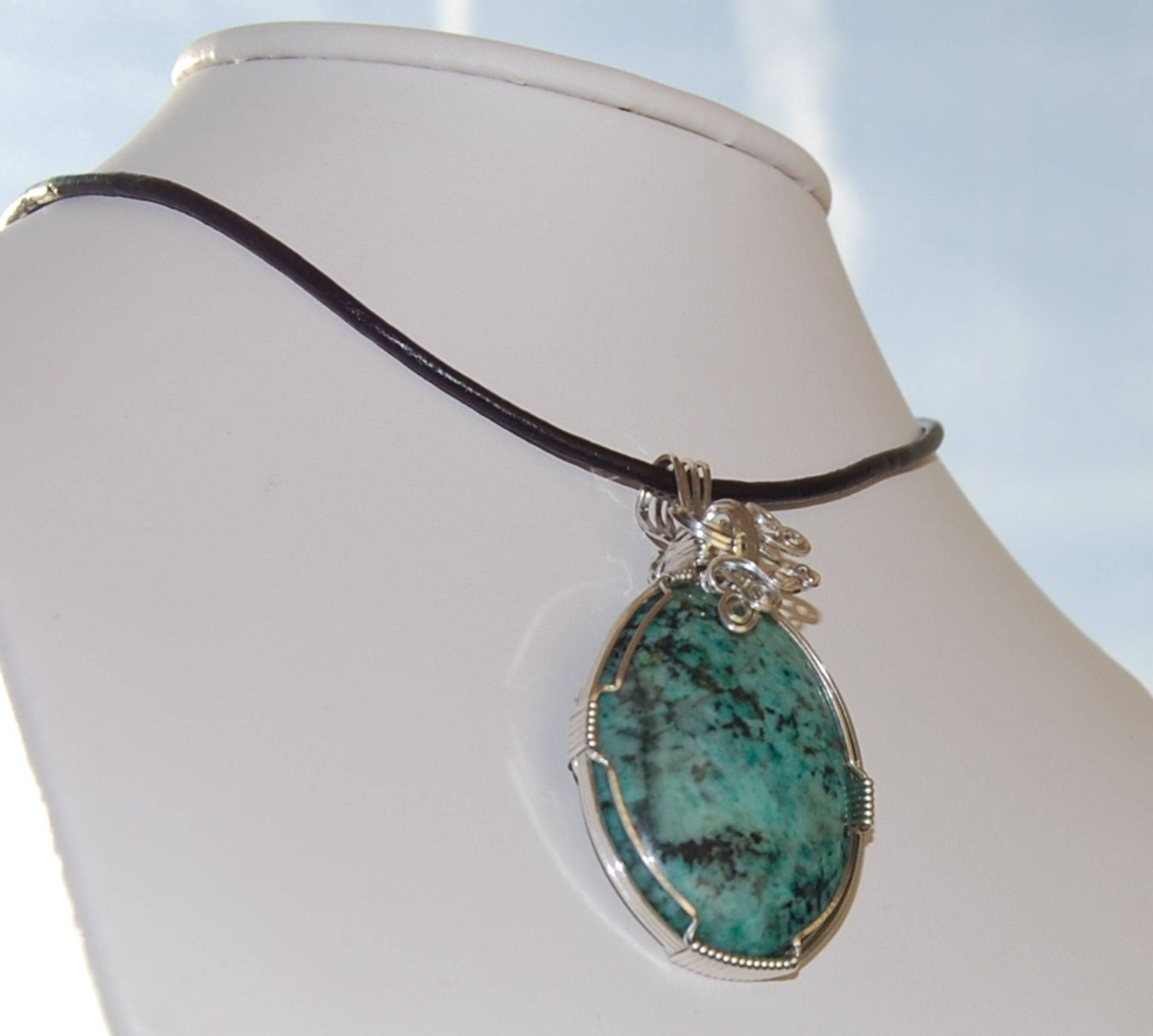 Handcrafted Wire Wrap Cabochon Pendant