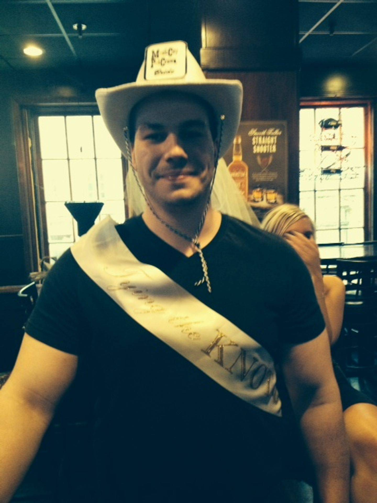 Daniel is the groom on this Nashville bar crawl