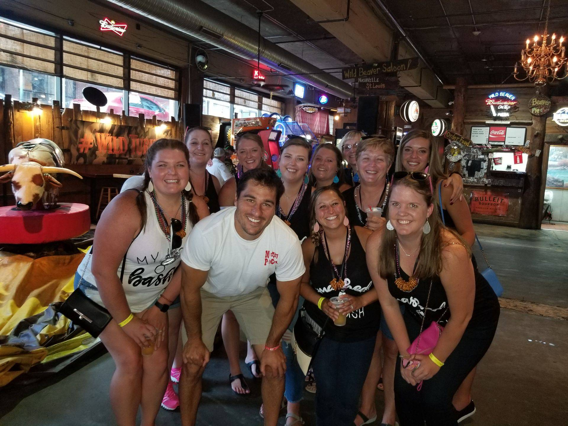 Music City Pub Crawl guide with Adrianna's group