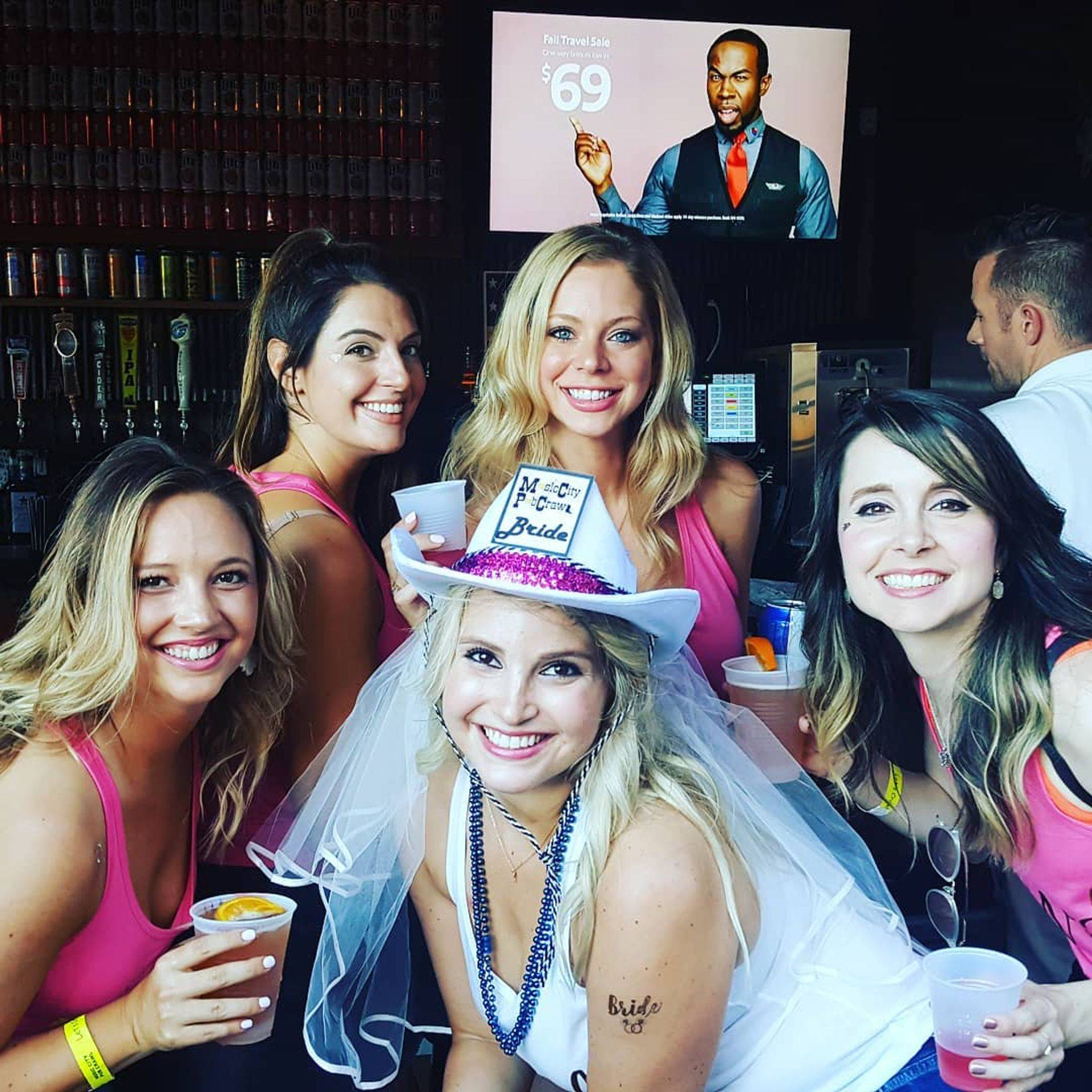 Nicole celebrated her Nashville bachleorette party with Music City Pub Crawl