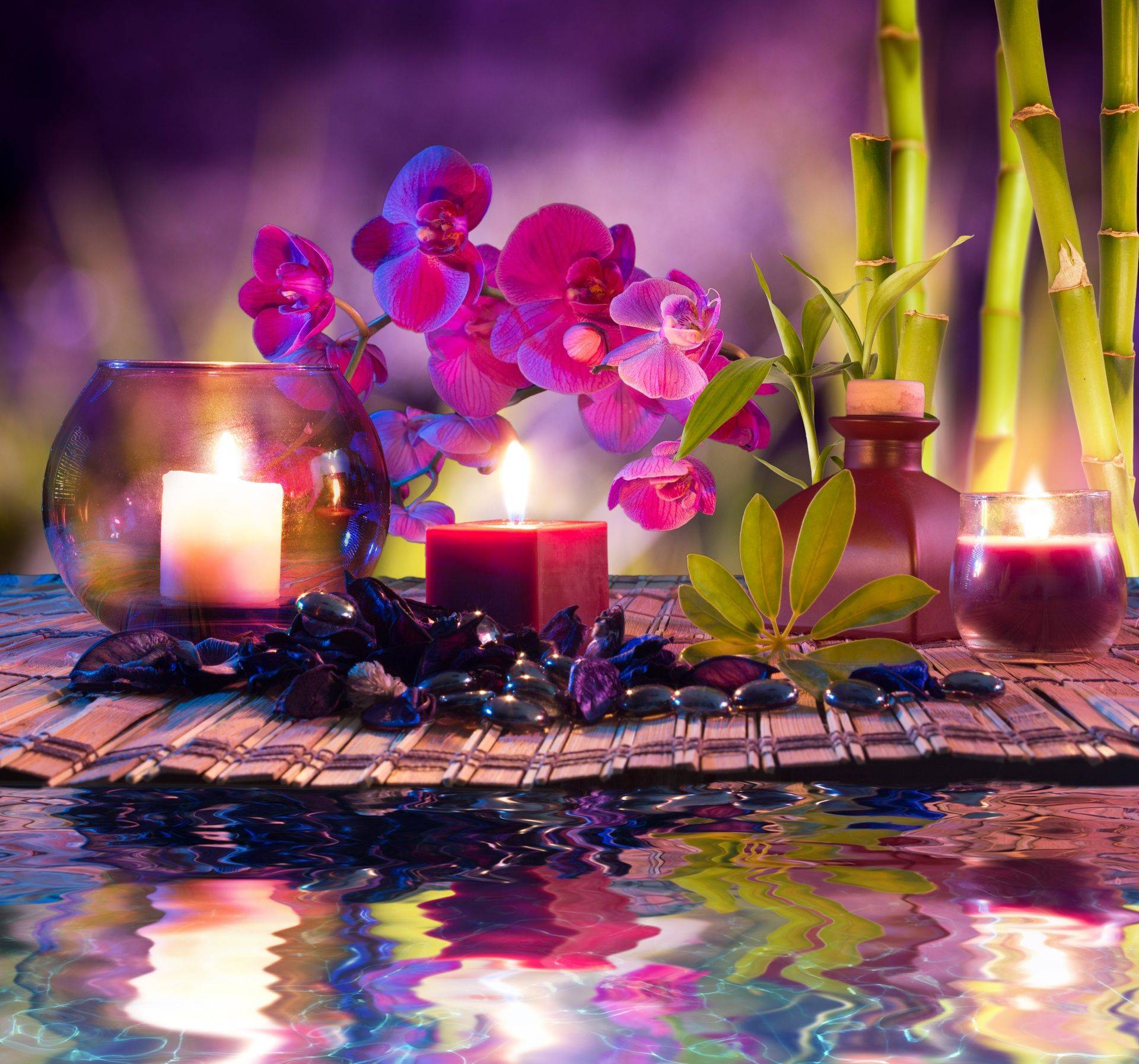 Tranquil candle sceen