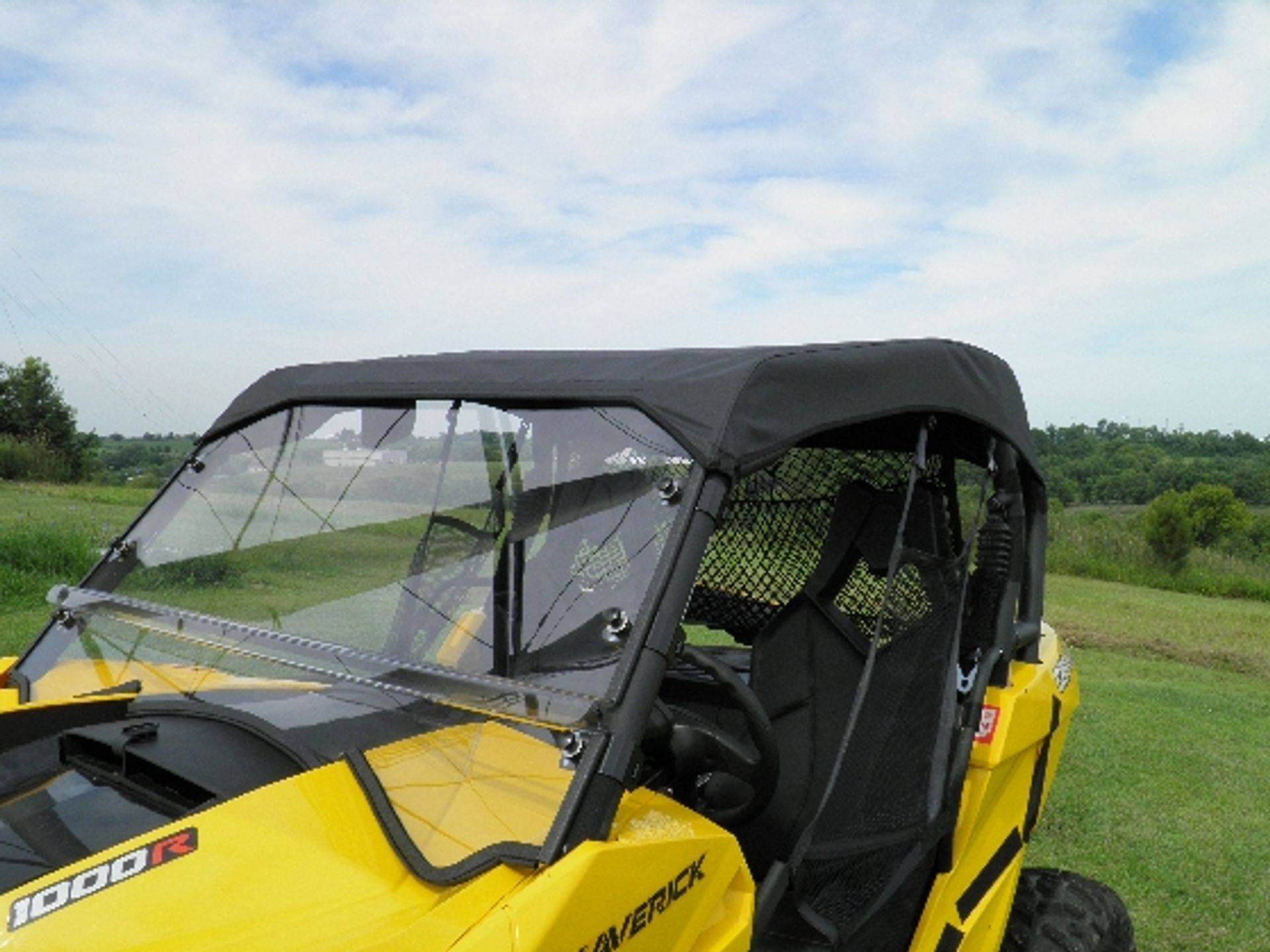 Can Am Maverick Summer Cab with a Lexan Windshield