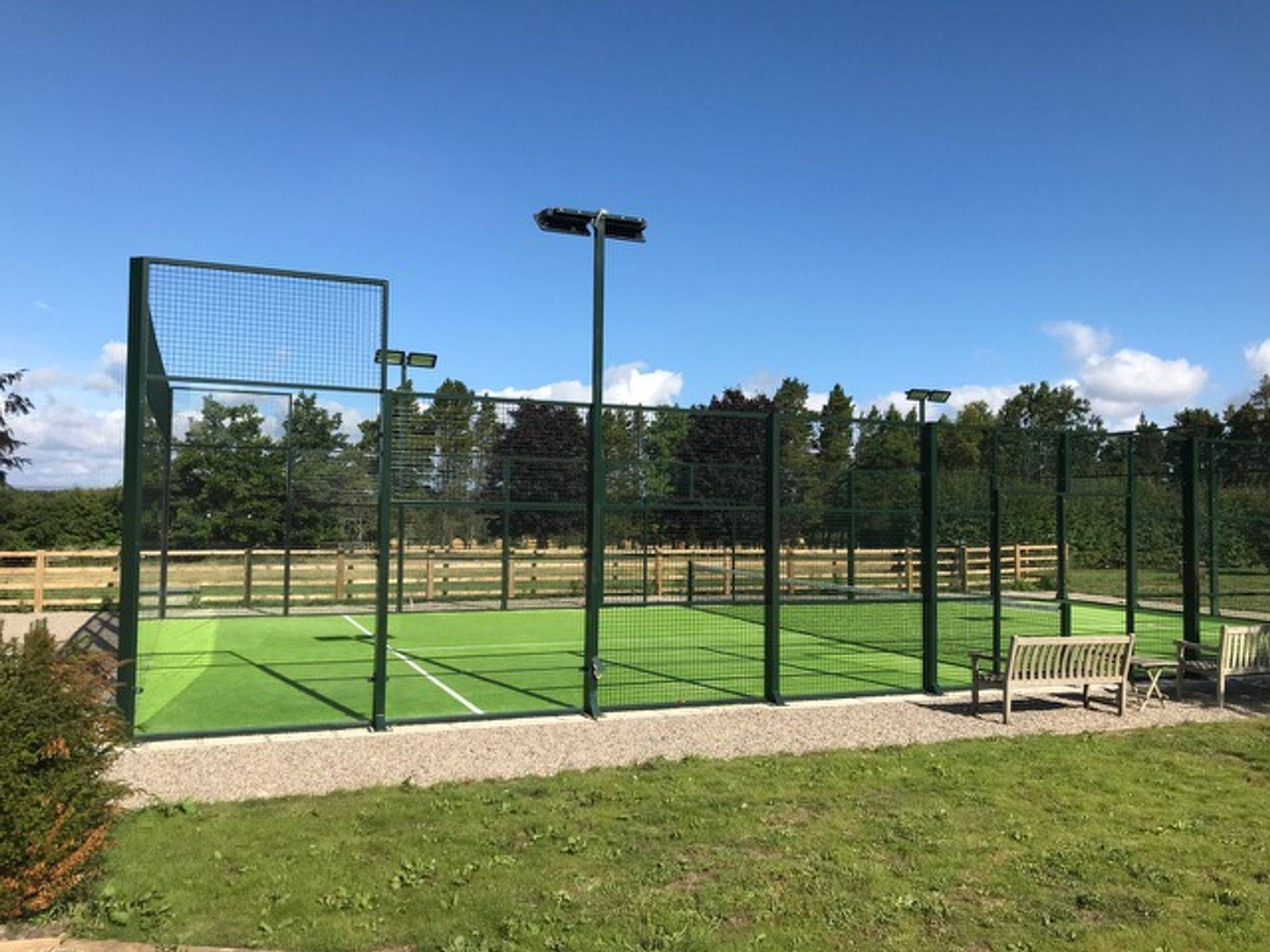 padel tennis court supplier uk