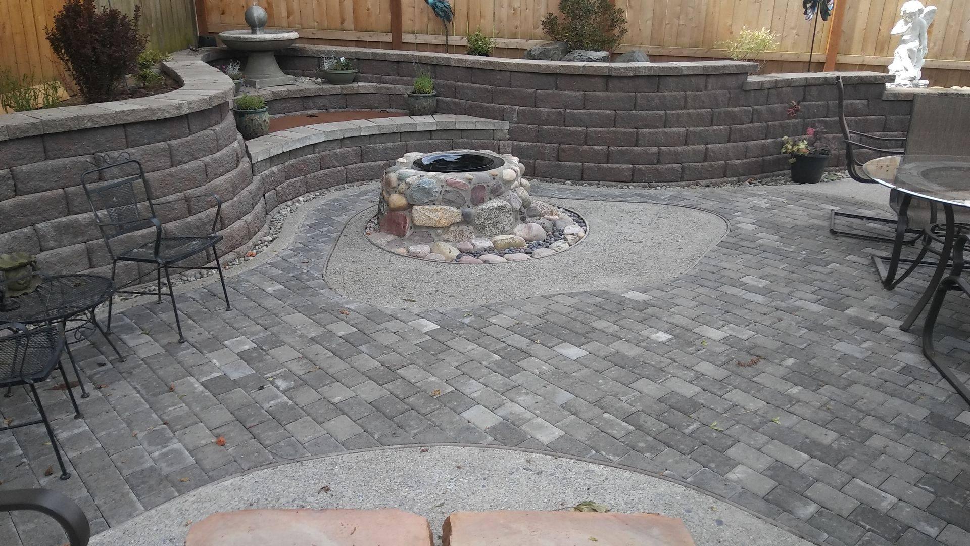 multi level paver patio