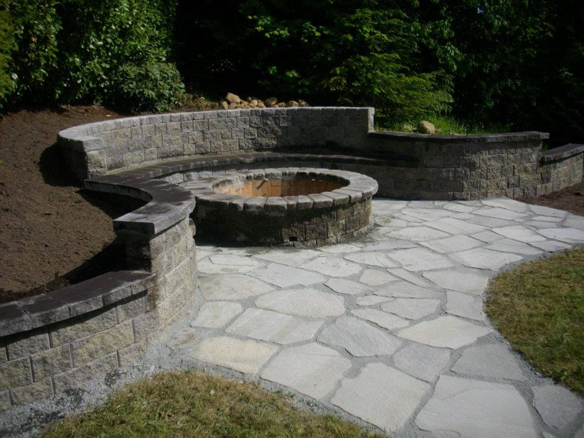HARDSCAPES such as Retaining Walls & Firepits