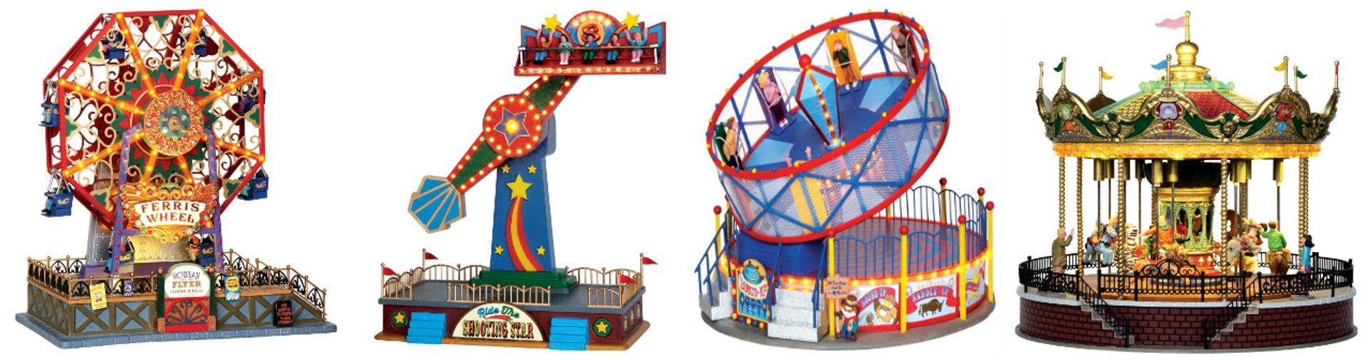 Lemax Resin Fairground ride models