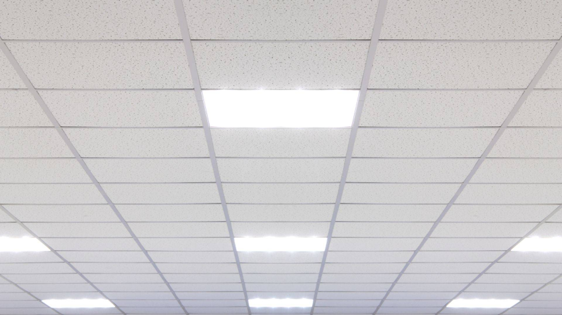 Exposed grid suspended ceiling