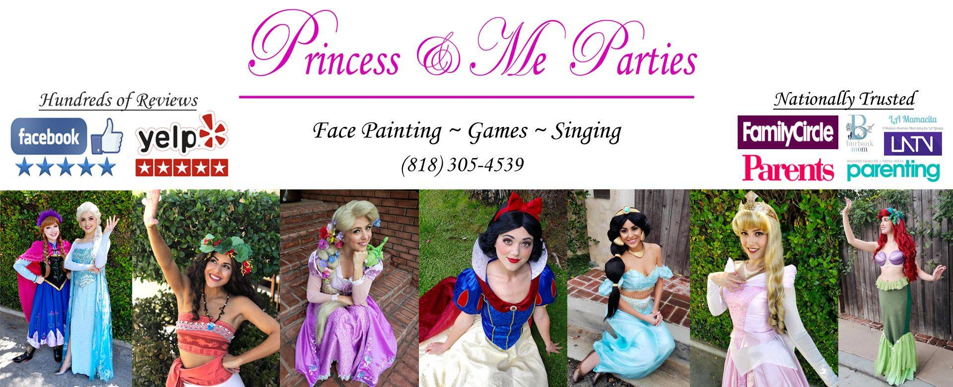 los angeles princess party elsa anna frozen cinderella wonder woman tinkerbell fairy