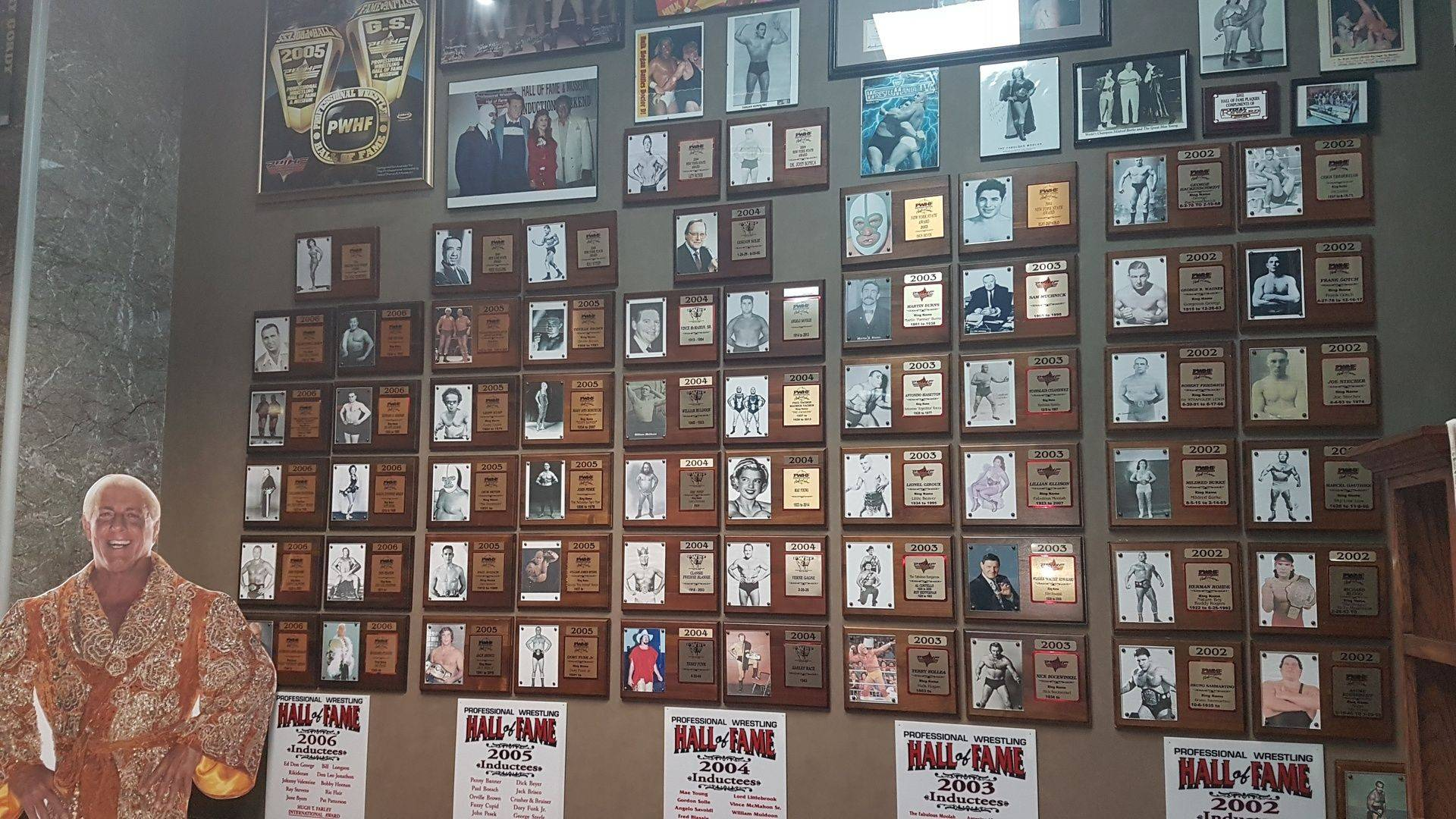 Hall of Fame plaques - complete wall of  all years