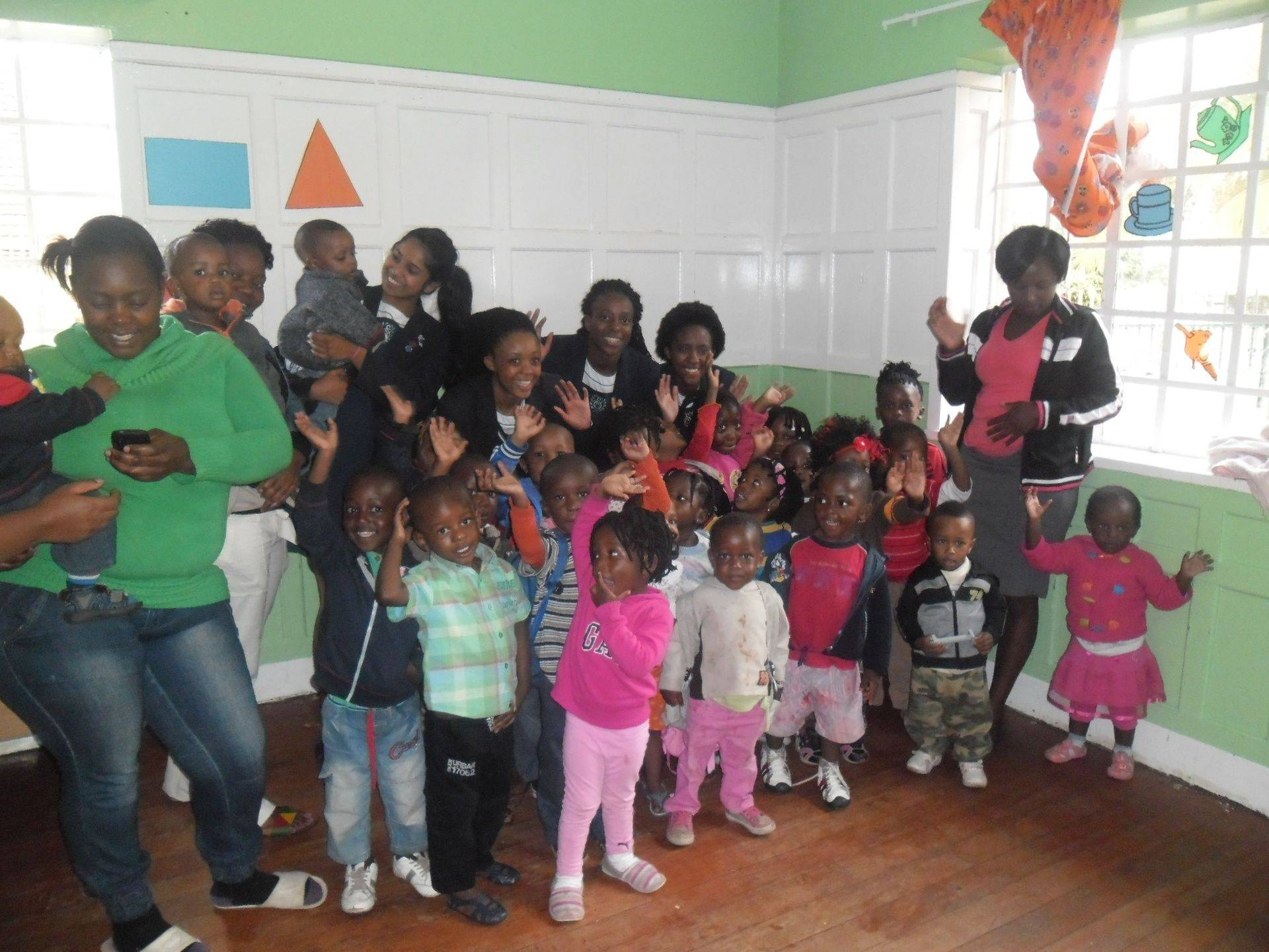 Children attending ECD Activities