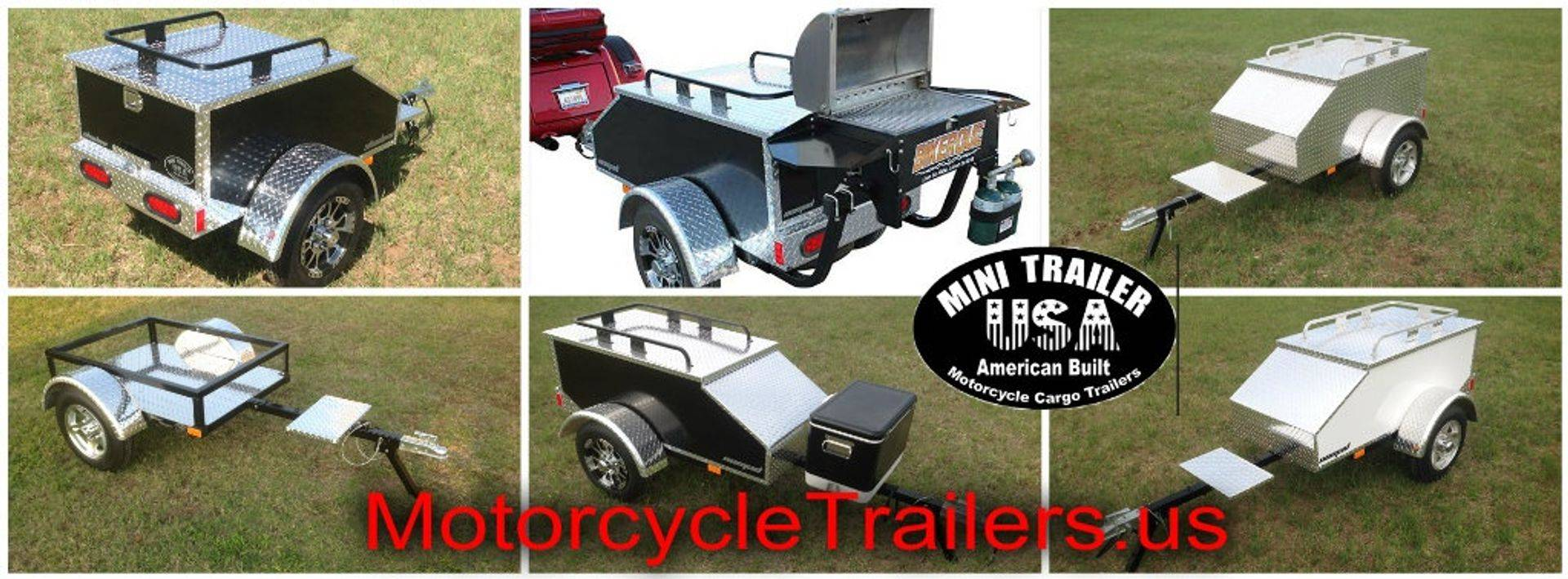 Pull behind motorcycle travel trailers