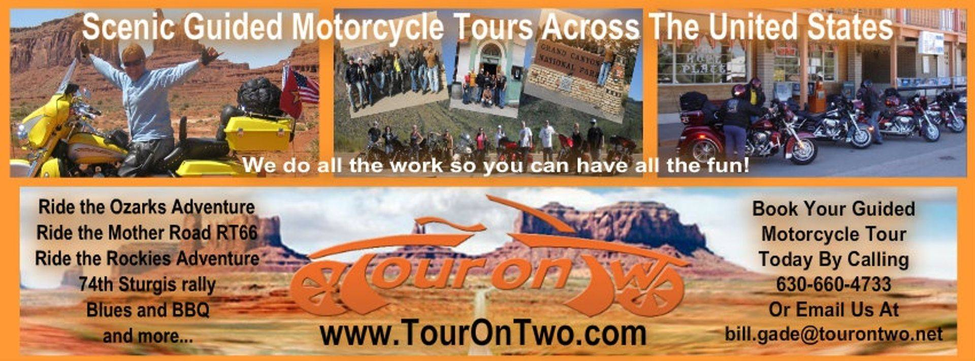 www.tourontwo.com Motorcycle Tours