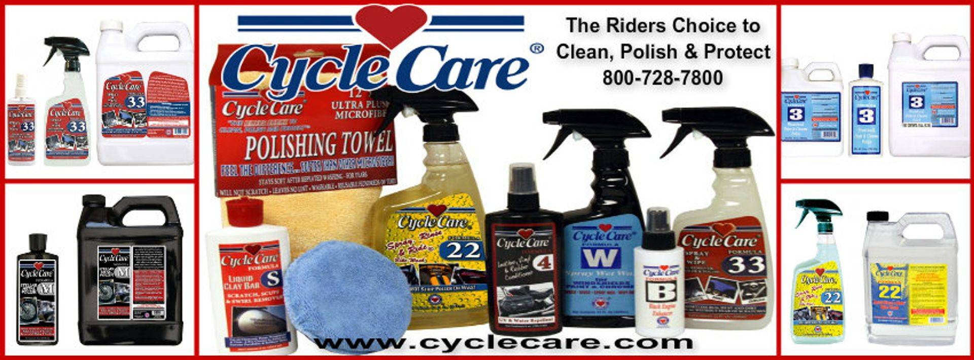 cyclecare.com Motorcycle cleaning products