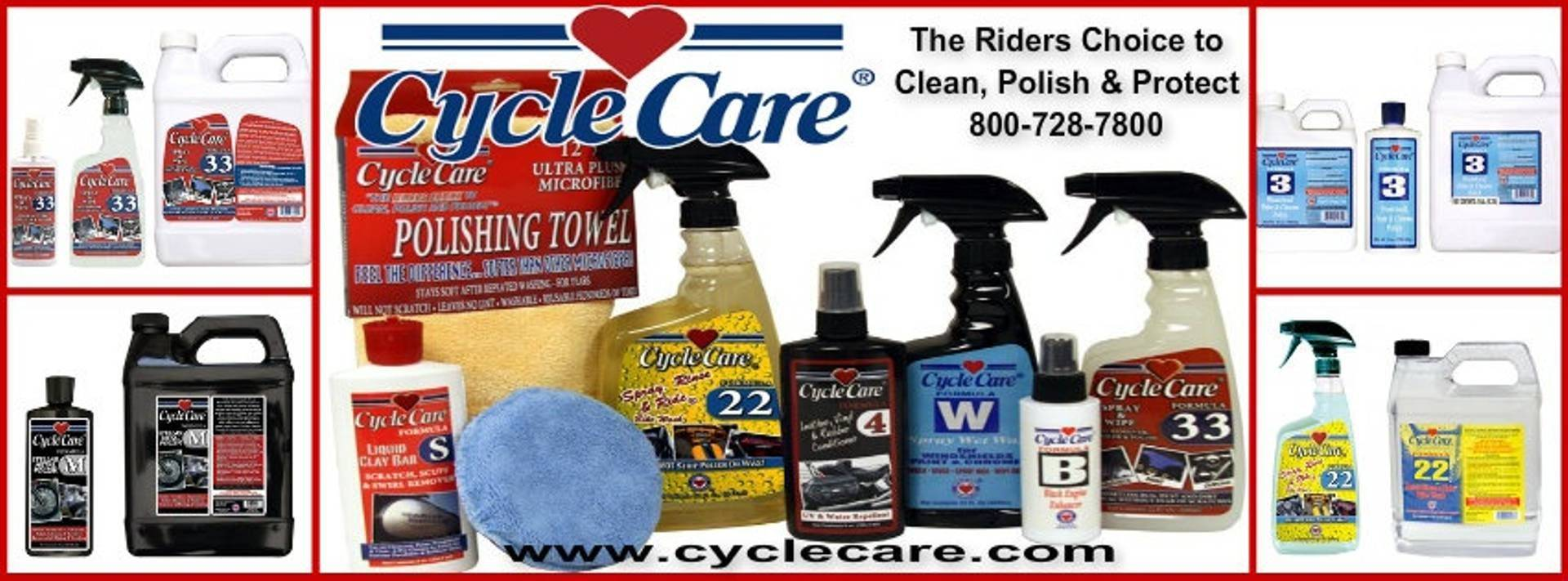 Cycle Care Formulas motorcycle cleaning products