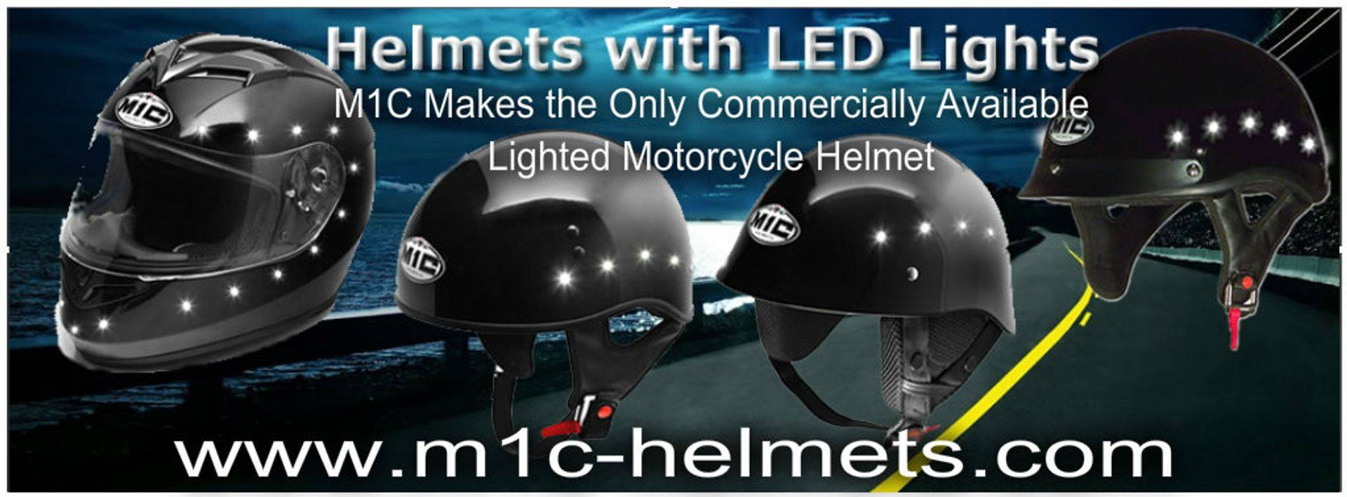 lighted motorcycle helmets