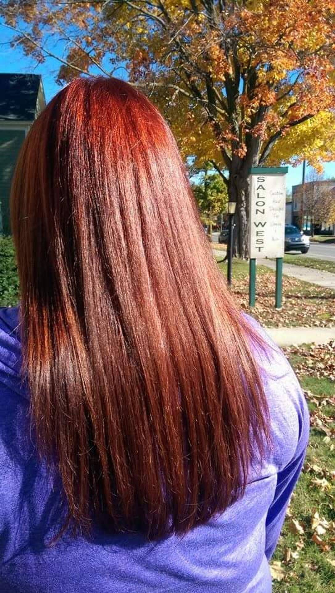 red hair redheads Traverse city Salon
