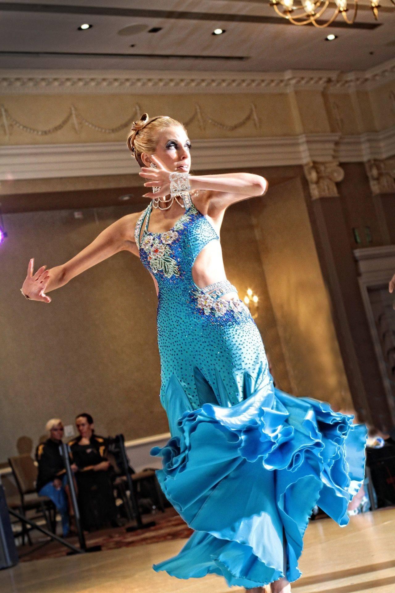 Blue Dress Dancing Waltz