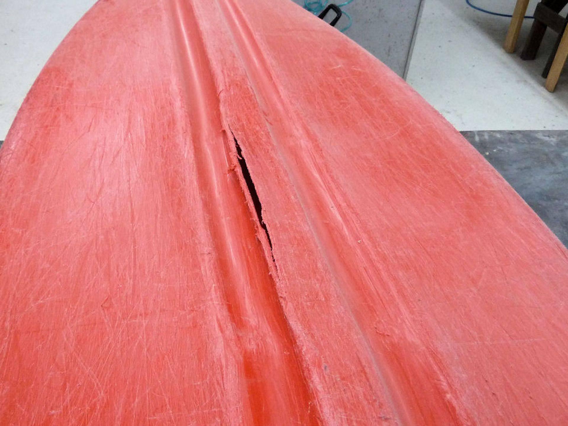 Cracked Kayak Repair