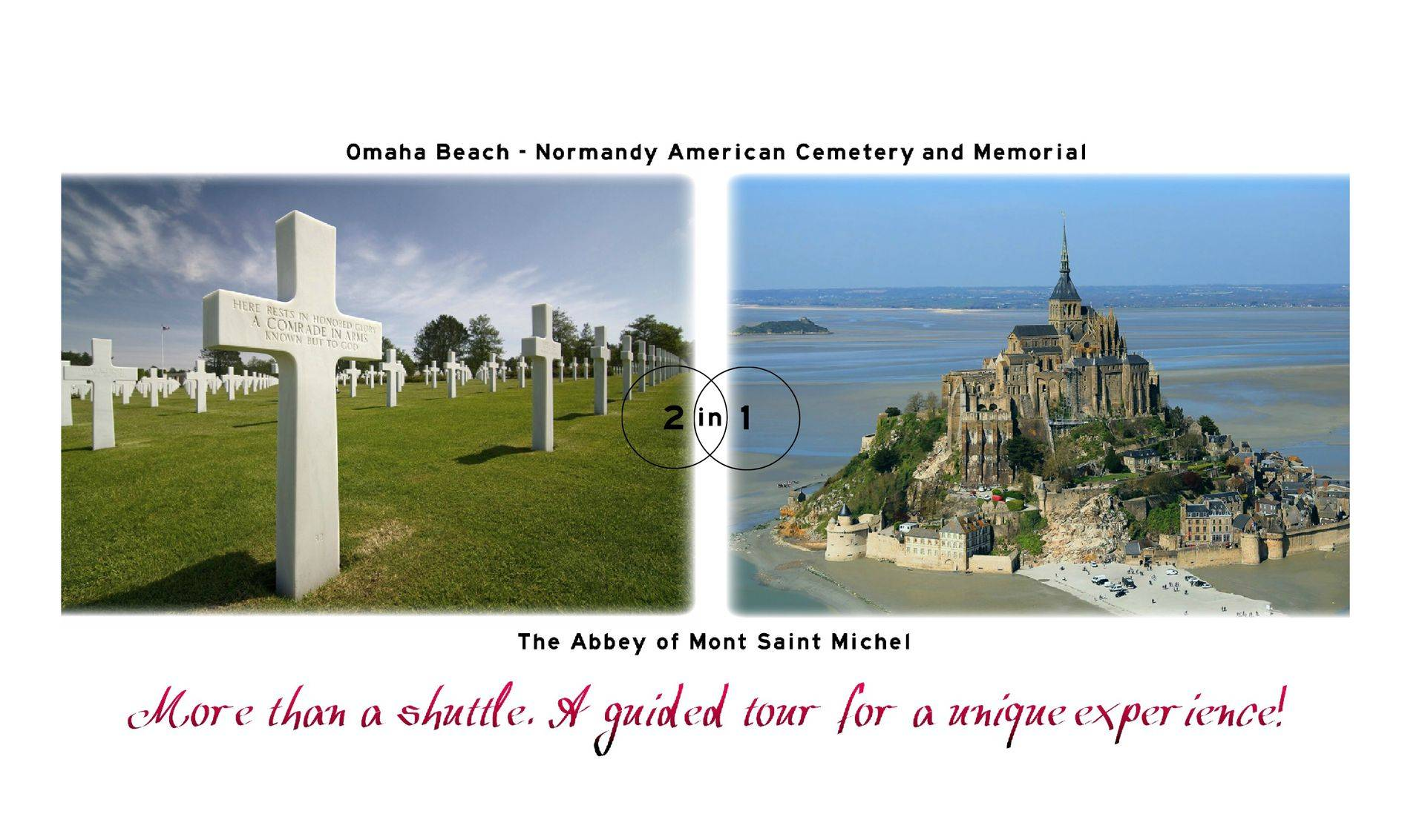 Mont Saint Michel and Omaha beach